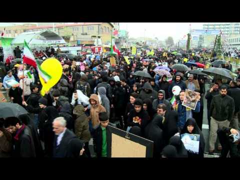 Mammoth crowds mark 40th anniversary of Iran revolution