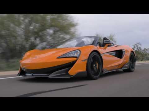 McLaren 600LT Spider in Myan Orange Driving Video