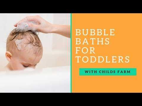 Tips On Using Bubble Bath With Your Toddler with Childs Farm! AD