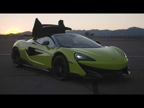McLaren 600LT Spider Design in Lime Green
