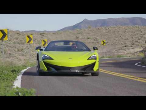 McLaren 600LT Spider in Lime Green Driving Video