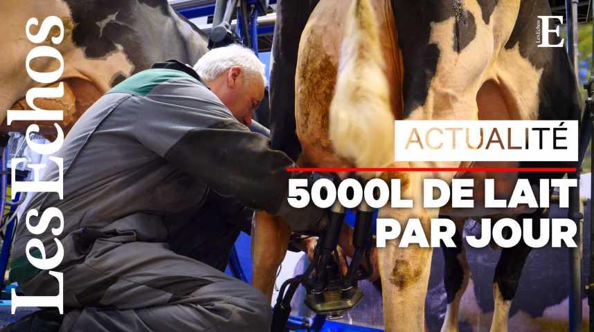 Illustration pour la vidéo Au Salon de l'Agriculture, la traite des vaches ne s'arrête pas