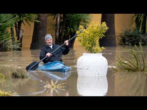 Thousands Ordered To Evacuate As Flood Waters Transform California Community Into Island