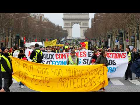 Thousands Of Yellow Vest Protesters Take To The Streets Of France For 17th Week