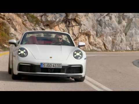 Porsche 911 Carrera S Cabriolet in Carrara White Metallic Driving Video