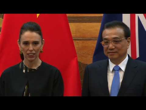 New Zealand PM Jacinda Ardern visits Beijing