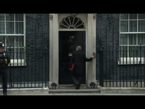 UK cabinet members arrive for meeting at Downing St