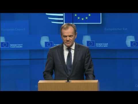 EU's Tusk: short Brexit delay possible if MPs back deal