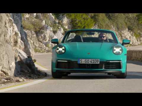 Porsche 911 Carrera S Cabriolet in Miami Blue Driving Video