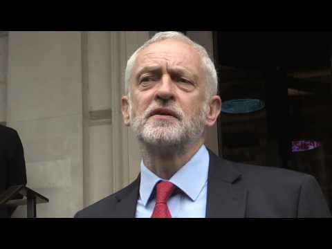Man Arrested After Throwing An Egg At Labour Party Leader Jeremy Corbyn