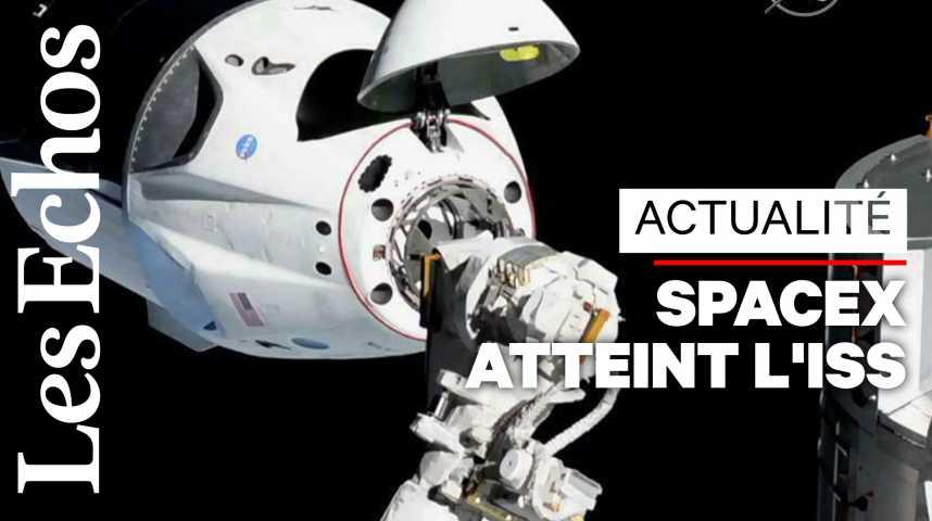 Illustration pour la vidéo SpaceX réussit son amarrage à la Station spatiale internationale