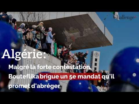 Algérie : Malgré la forte contestation, Bouteflika brigue un 5e mandat qu'il promet d'avorter