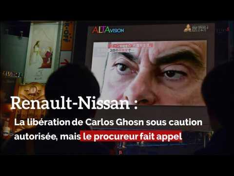Carlos Ghosn: libération sous caution autorisée, mais le procureur fait appel
