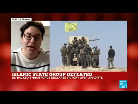 Islamic State group defeated report by Leila Molana-Allan