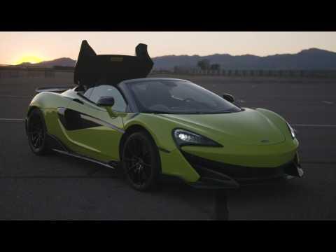 McLaren 600LT Spider Design Preview in Lime Green