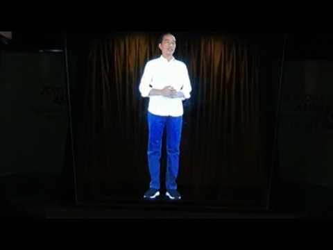Indonesian leader taps 'hologram campaigning' ahead of polls
