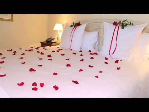 Prepping for Valentine's Day in a luxury Paris hotel