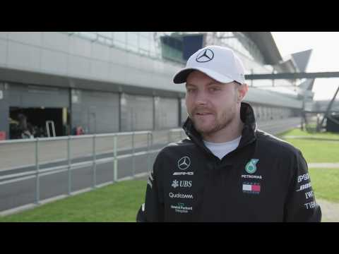 Mercedes-AMG Petronas motorsport's tenth modern-day F1 car hits the track in Silverstone - Valtteri Bottas