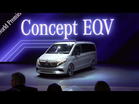 Mercedes Concept EQV at the 2019 Geneva Motor Show