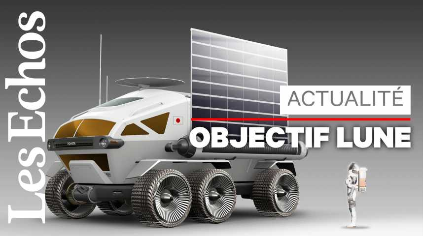 Illustration pour la vidéo Toyota vise la Lune avec un véhicule habité