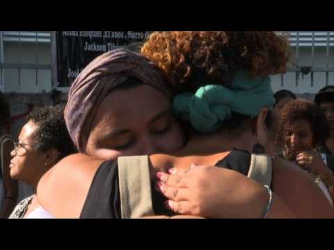 Tribute to Brazil's Marielle Franco at crime scene, one year on