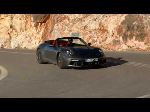 Porsche 911 Carrera 4S Cabriolet in Agate Grey Metallic Driving Video