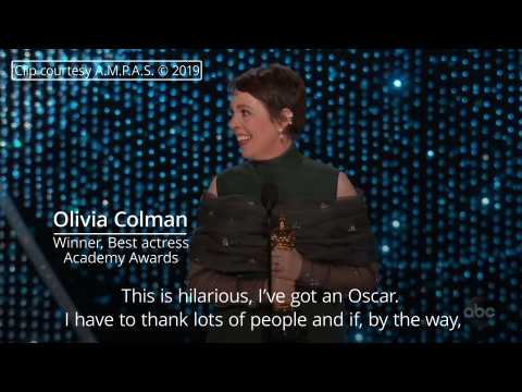 Oscars 2019: Olivia Colman wins best actress award