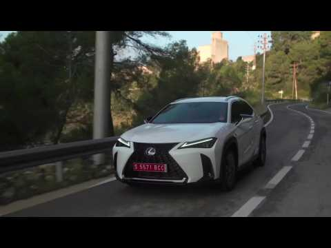 The new Lexus UX 250h in White Driving Video