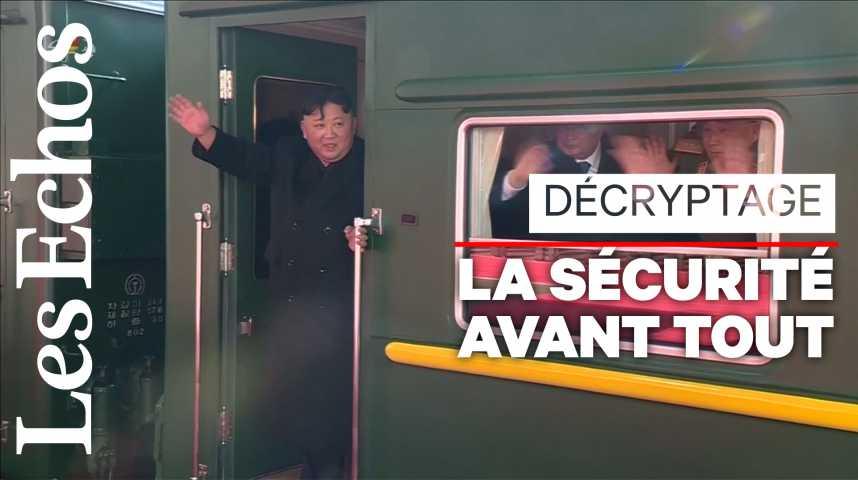 Illustration pour la vidéo Dans le train hors-norme de Kim Jong-un