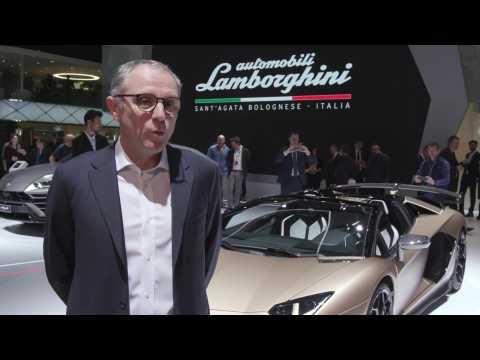 Lamborghini at Geneva Motor Show 2019 - Interview with Stefano Domenicali, CEO of Lamborghini