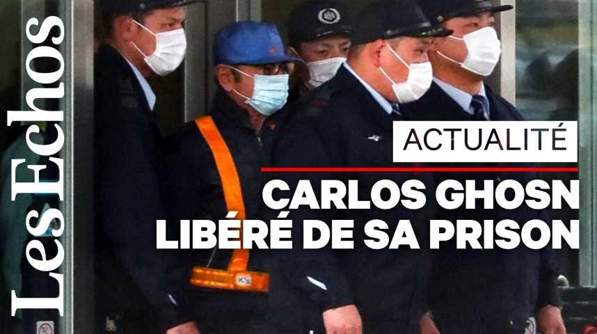 Illustration pour la vidéo Les premières images de Carlos Ghosn après sa libération