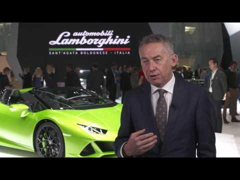 Maurizio Reggiani introduces the Lamborghini Huracán EVO Spyder and Aventador SVJ Roadster