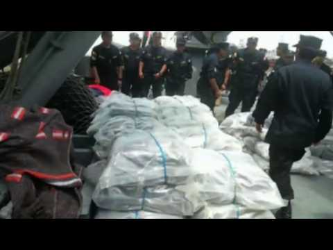 Two tonnes of cocaine seized off Peruvian coast