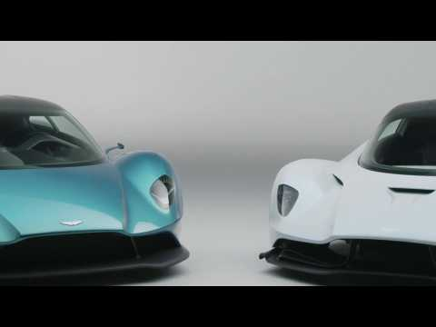 Aston Martin Vanquish Vision Concept and AM-RB 003 Design in studio