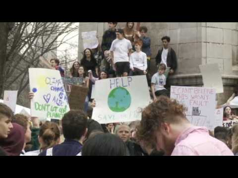 New York students join global climate change protests
