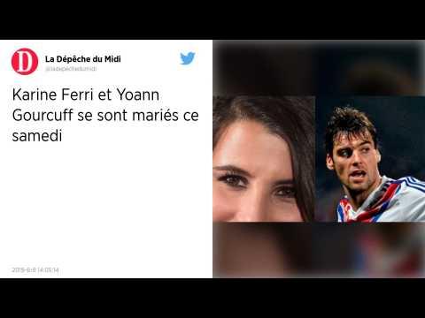 Yoann Gourcuff et Karine Ferri se sont mariés