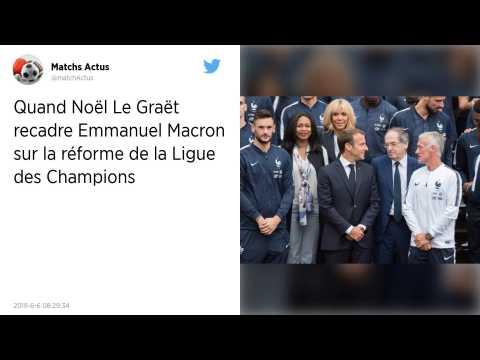 Ligue des champions. Noël Le Graët répond à Emmanuel Macron?: «?La politique ne doit pas entrer dans cette voie-là?»