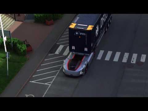 Vera's first assignment - Volvo Trucks presents an autonomous transport between a Logistics centre and port