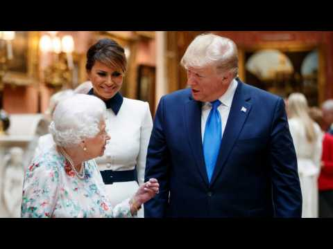 Kate Middleton And The Queen Wear White At Banquet Trump