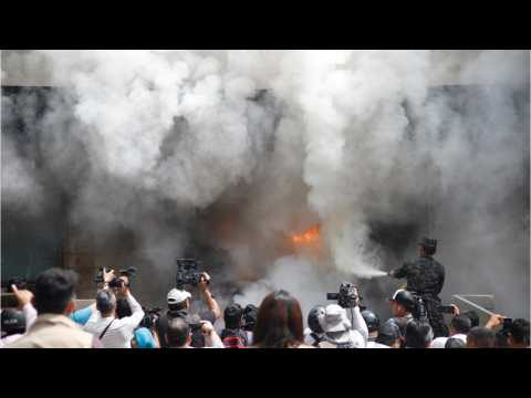 US Embassy In Honduras Set Ablaze During Protests