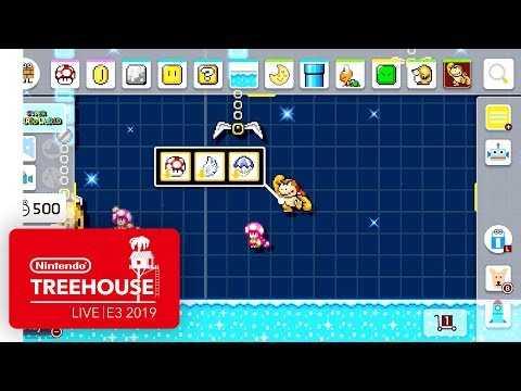 Super Mario Maker 2 Gameplay Pt. 3 - Nintendo Treehouse: Live | E3 2019