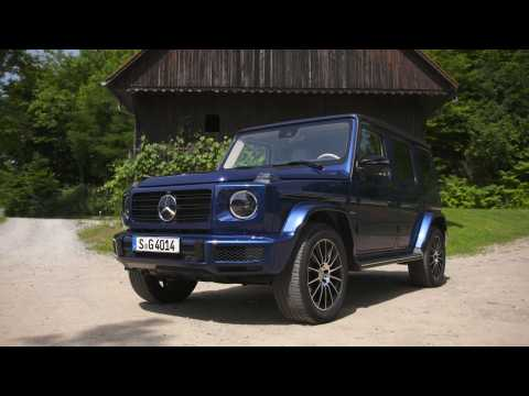 Mercedes-Benz G 400 d Design in Brilliant Blue