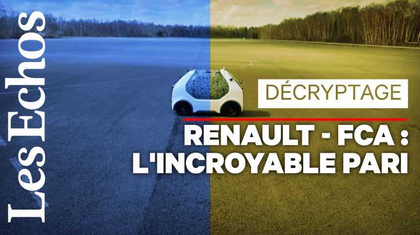 Illustration pour la vidéo Fiat Chrysler – Renault : les clefs du projet de fusion