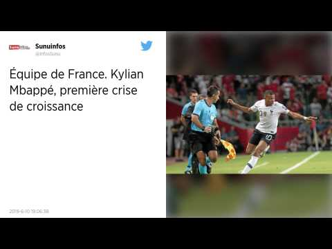 Equipe de France. Kylian Mbappé, première crise de croissance