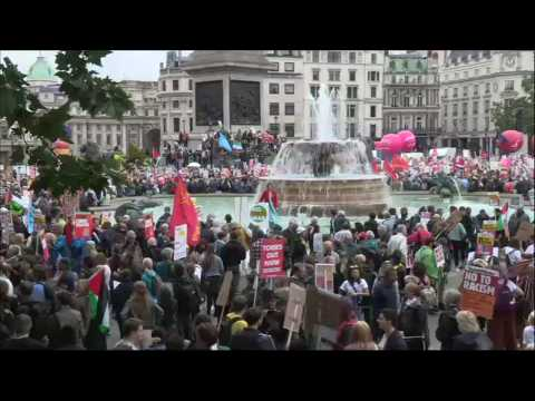Thousands in London rally against Donald Trump's visit