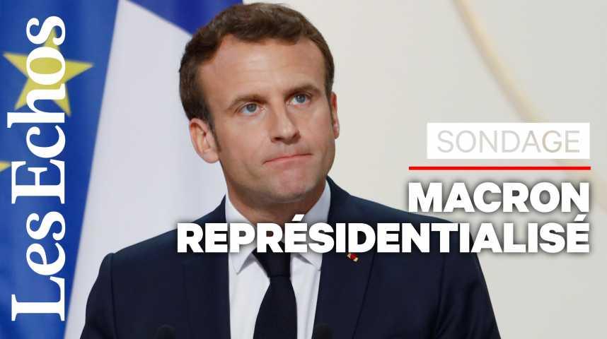 Illustration pour la vidéo Sondage : « Une forme de représidentialisation de Macron »