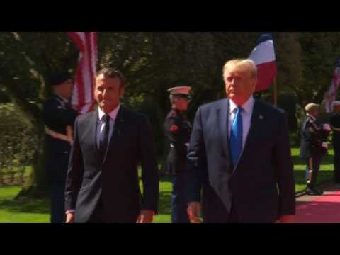 D-Day: Trump and Macron arrive in Colleville-sur-mer