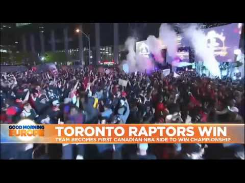 Toronto Raptors win first basketball championship in team's history