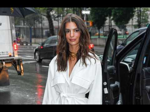 Emily Ratajkowski relies on eyebrow brush