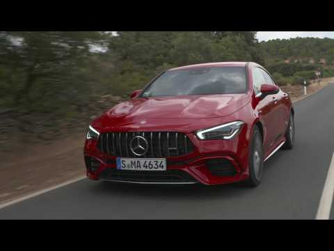 Mercedes-AMG CLA 45 S 4MATIC+ in Jupiter red Driving Video
